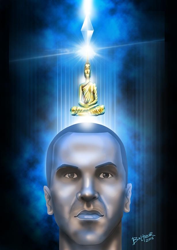cabeça de buda espiritual